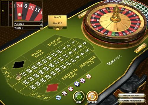 Giocare senza soldi alla roulette