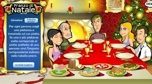 Il pranzo di natale online gratta e vinci fino a for Costo per aggiungere garage e stanza bonus