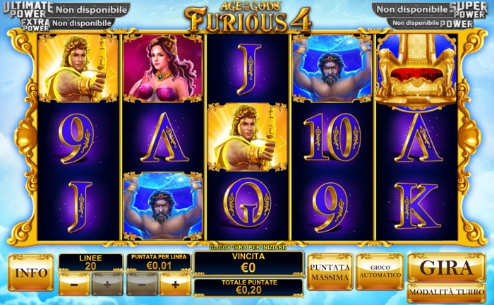 Play Age of the Gods: Furious Four slots at Casino.com NZ