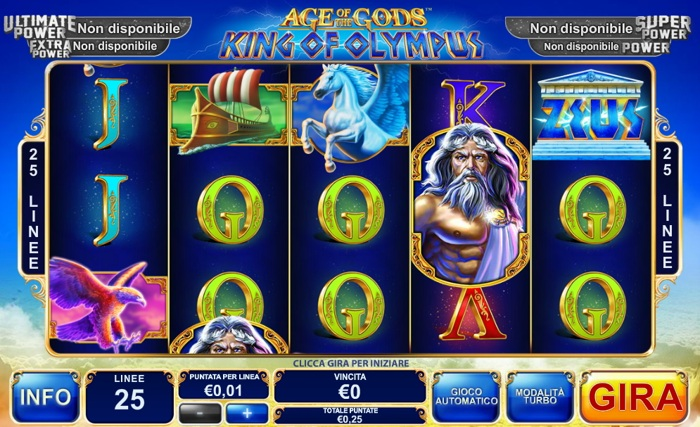 age of gods king of olympus slot machine