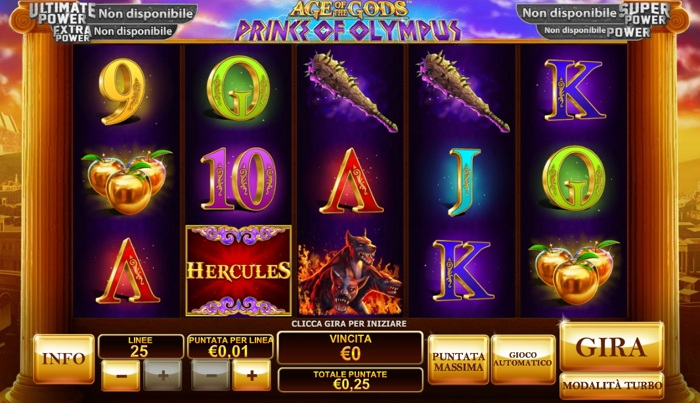 Play Age of the Gods: Prince Of Olympus slots at Casino.com ZA