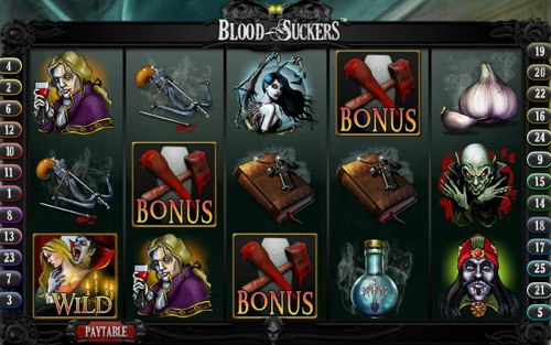 Screenshot della Slot Machine Blood Suckers