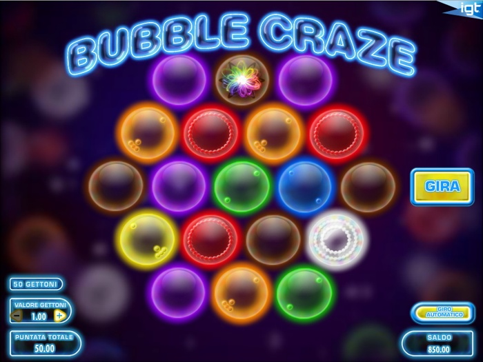 bubble craze slot machine