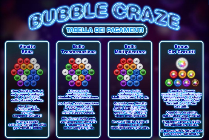 bubble craze vincite 1