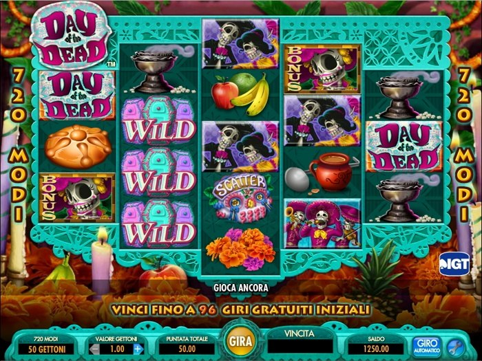 day of the dead slot machine
