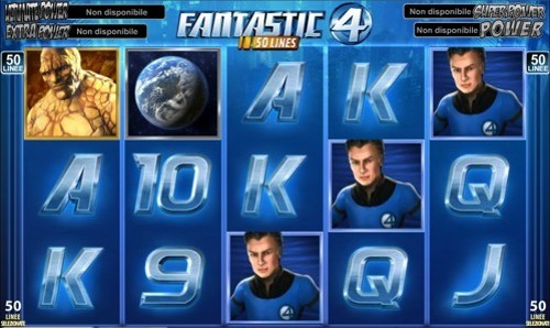 La Slot Machine Fantastic 4 a 50 linee
