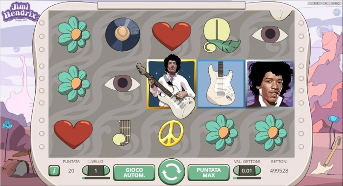 jimi hendrix slot machine