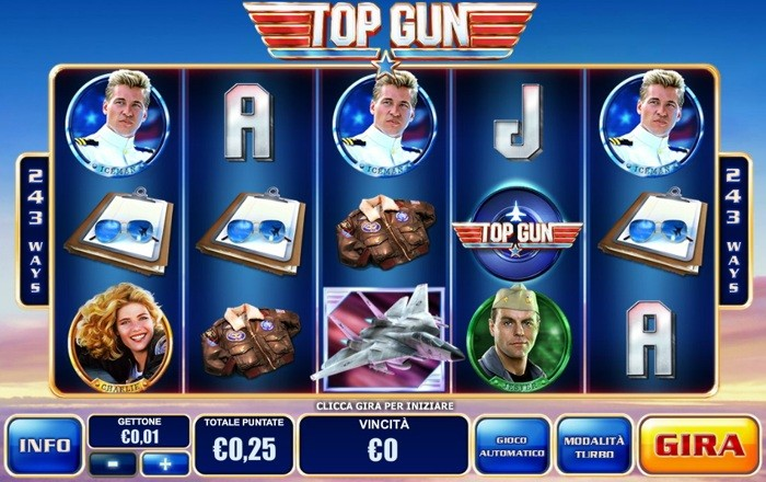 top gun slot machine