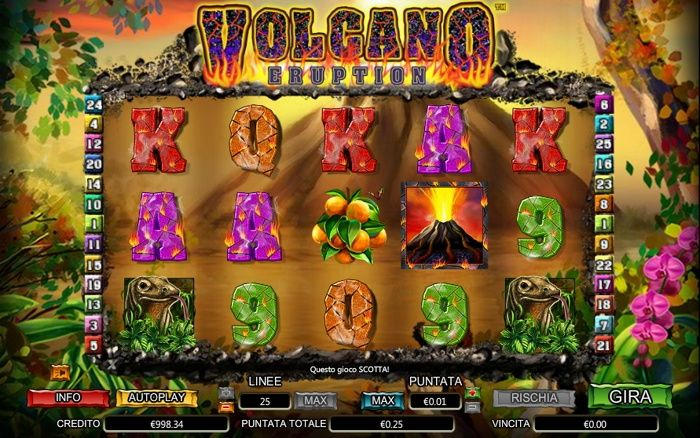 volcano eruption slot machine