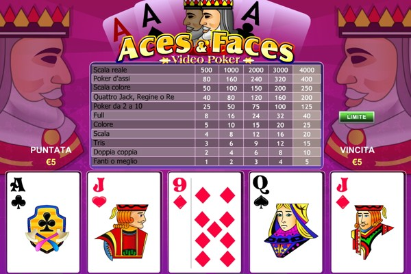 Il Video Poker Aces and Faces