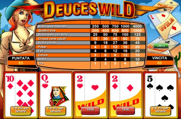 Il Video poker Deuces Wild