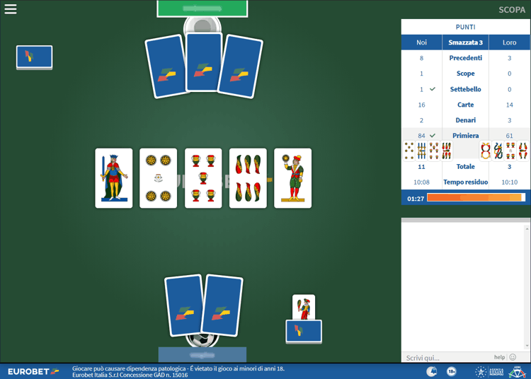 eurobet scopa multiplayer