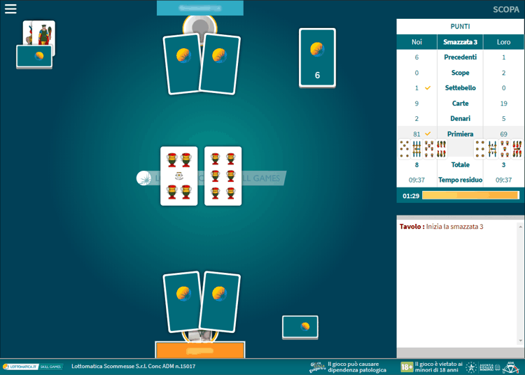 lottomatica scopa multiplayer