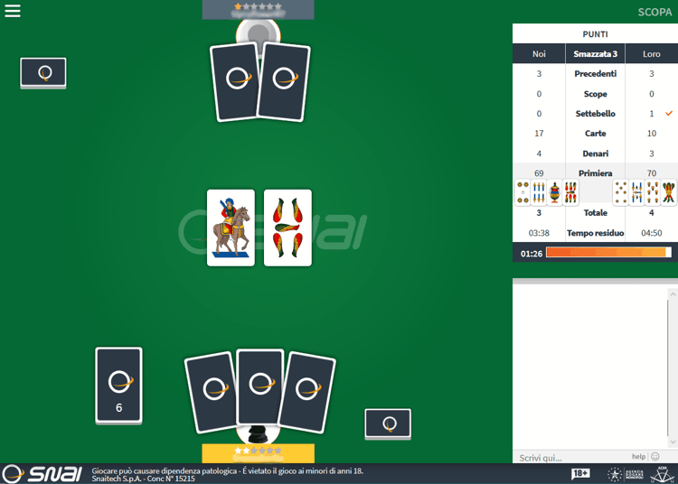 snai scopa multiplayer