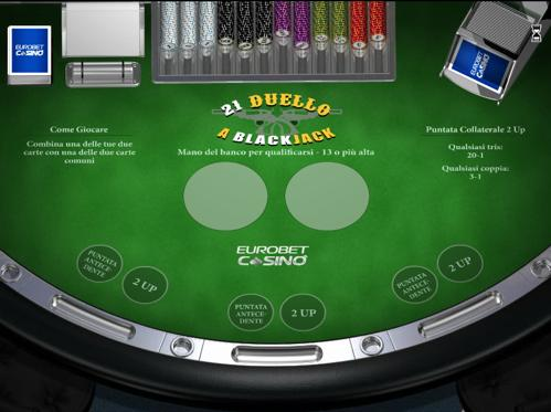 21 duello blackjack eurobet casino
