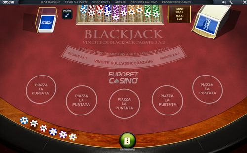 blackjack eurobet casino