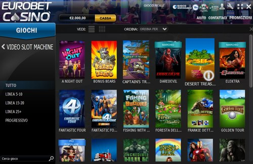 eurobet casino software