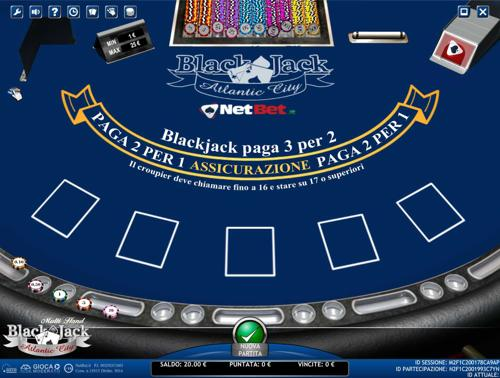 blackjack atlantic city multihand netbet