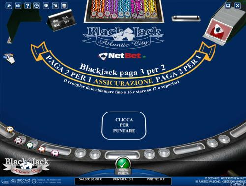 blackjack atlantic city netbet