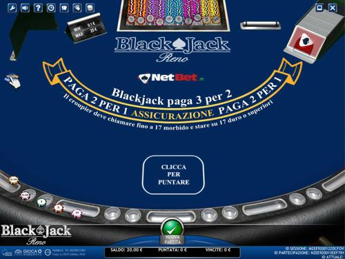 blackjack reno netbet
