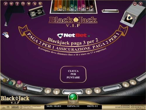 blackjack vip netbet