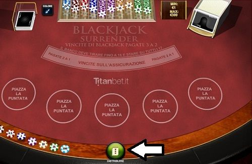 blackjack surrender distribuire