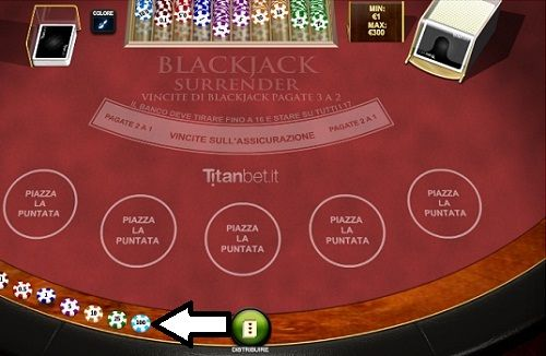 blackjack surrender puntata