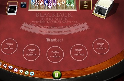 blackjack surrender tavolo